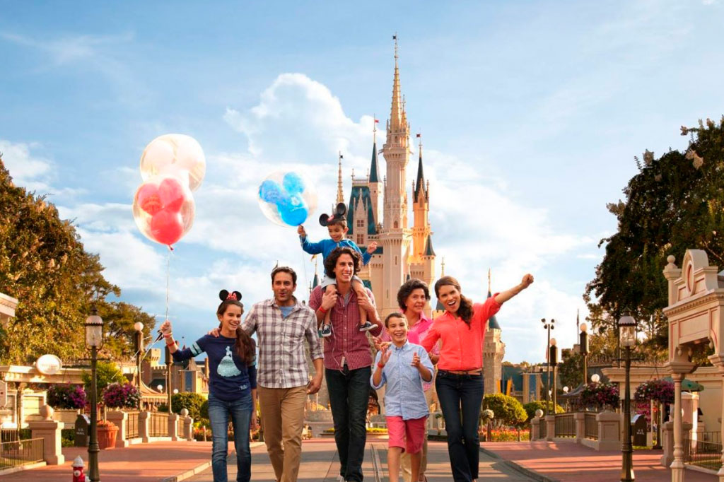 Familia en Disney World